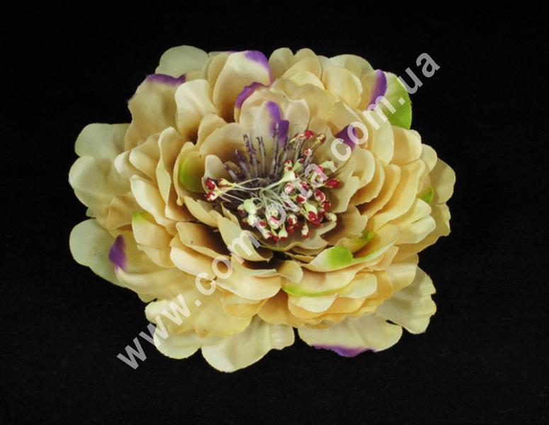 Головка пиона персиково-фиолетовая, диаметр ~ 16 см, цветок искусственный