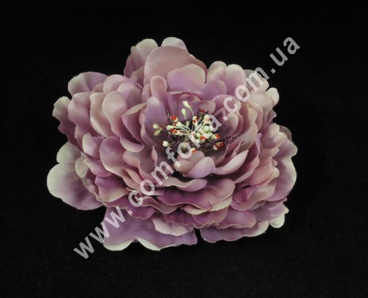 Головка пиона светло-фиолетовая, диаметр ~ 16 см, цветок искусственный