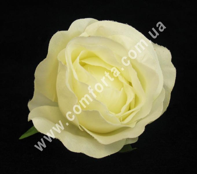 Головка розы шампань, диаметр ~ 8 см, цветок искусственный