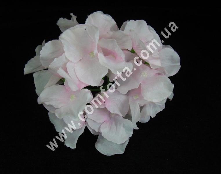 Головка гортензии нежно-розовая, диаметр ~17 см, цветок искусственный