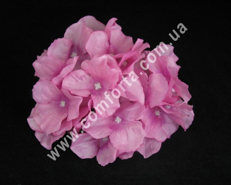 Головка гортензии ярко-розовая, диаметр ~ 17 см, цветок искусственный
