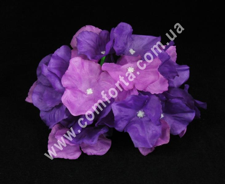 33227-08 Головка гортензии фиолетовая, диаметр ~ 17 см, цветок искусственный