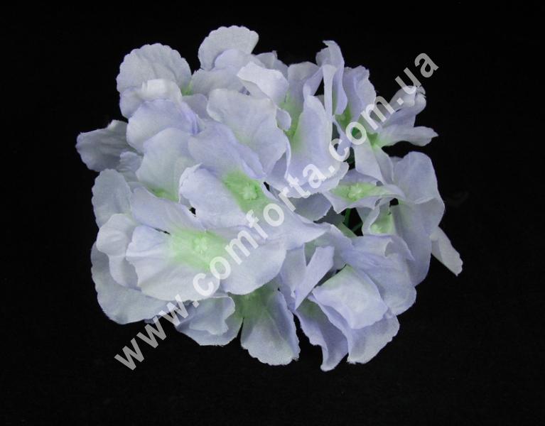 Головка гортензии нежно-голубая, диаметр ~ 17 см, цветок искусственный