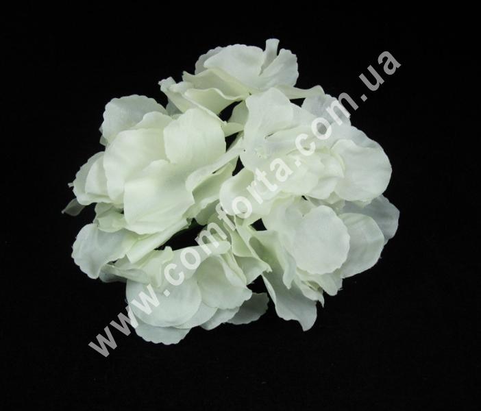 Головка гортензии белая, диаметр ~ 17 см, цветок искусственный