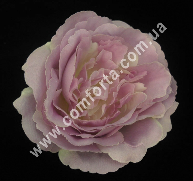 Головка розы пионовидная нежно-сиреневая, d-11см, цветок искусственный