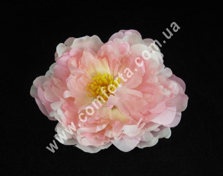 Головка пиона нежно-розовая, диаметр ~ 14 см, цветок искусственный