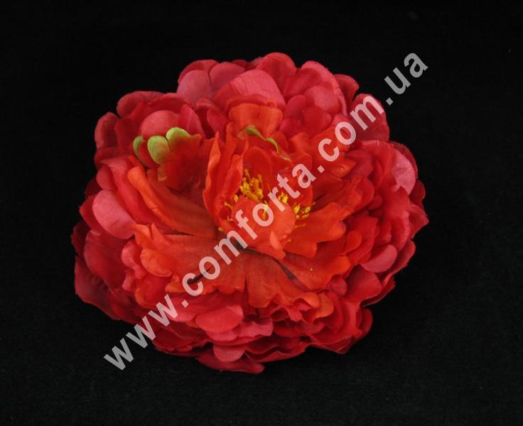 Головка пиона красная, диаметр ~ 14 см, цветок искусственный