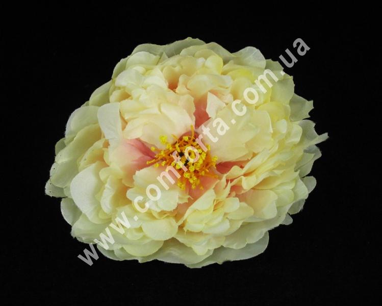 Головка пиона кремово-розовая, диаметр ~ 14 см, цветок искусственный