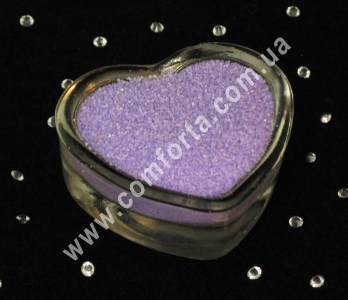 Цветной песок мраморный нежно-сиреневый, вес ~ 1 кг, фракция ~ 0,2 - 0,5 мм
