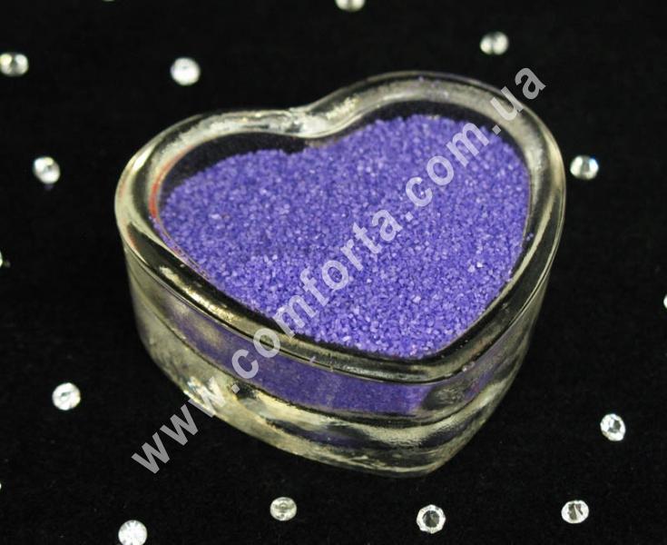 Цветной песок мраморный сиреневый, вес ~ 1 кг, фракция ~ 0,2 - 0,5 мм