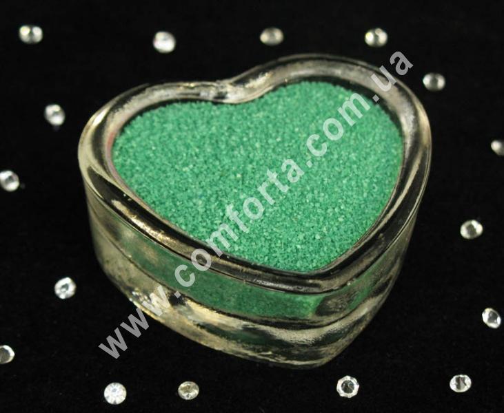 Цветной песок мраморный мятный, вес ~ 1 кг, фракция ~ 0,2 - 0,5 мм