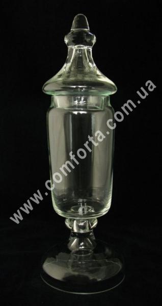 стеклянная ваза с крышкой для кенди-бара, высота - 45 см, объем - 1,6 л