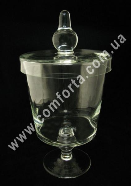 стеклянная ваза с крышкой для кенди-бара, высота - 38 см, объем - 3,2 л