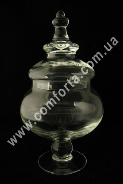 стеклянная ваза с крышкой для кенди-бара, высота - 38 см, объем - 2,6 л