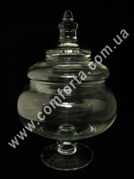 стеклянная ваза с крышкой для кенди-бара, высота - 38 см, объем - 3,9 л