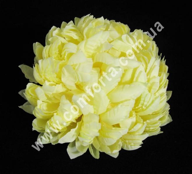 головка хризантемы, нежно-желтая, диаметр - 14 см, цветок искусственный