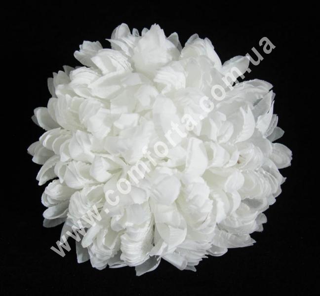 головка хризантемы, белая, диаметр - 14 см, цветок искусственный