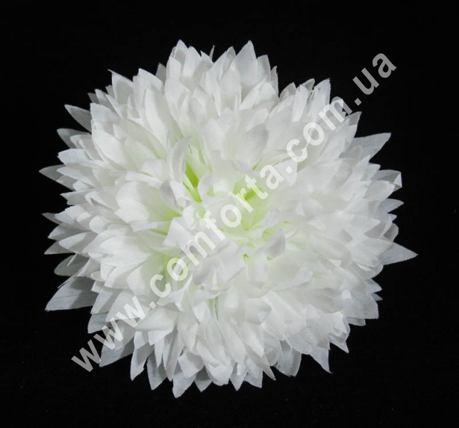 головка хризантемы, белая, диаметр - 11 см, цветок искусственный