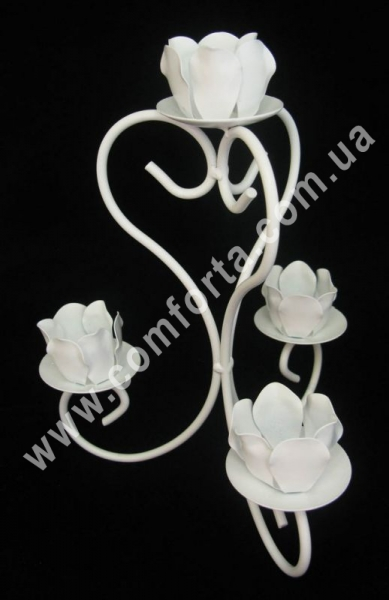 свадебный металлический подсвечник, высота - 24 см, ширина - 18 см