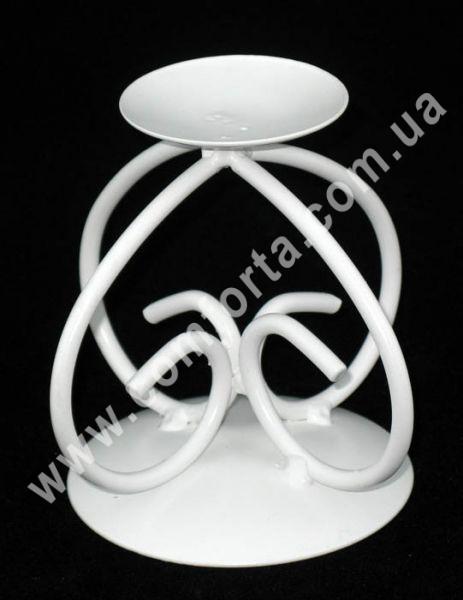 свадебный подсвечник металлический белый