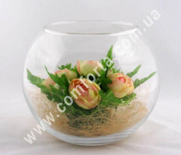 стеклянная ваза шар