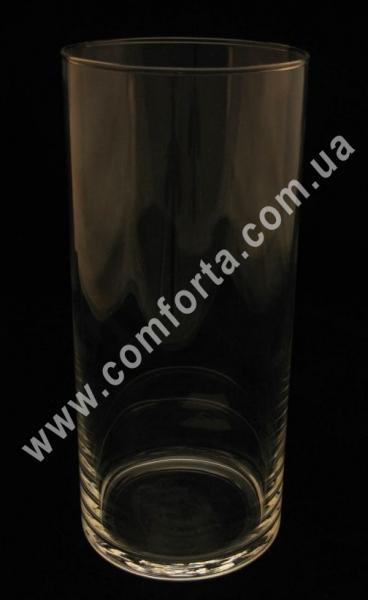 стеклянный цилиндр, высота - 26 см, диаметр - 11 см
