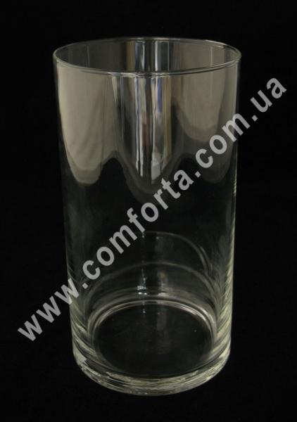 стеклянный цилиндр, высота - 19 см, диаметр - 11 см