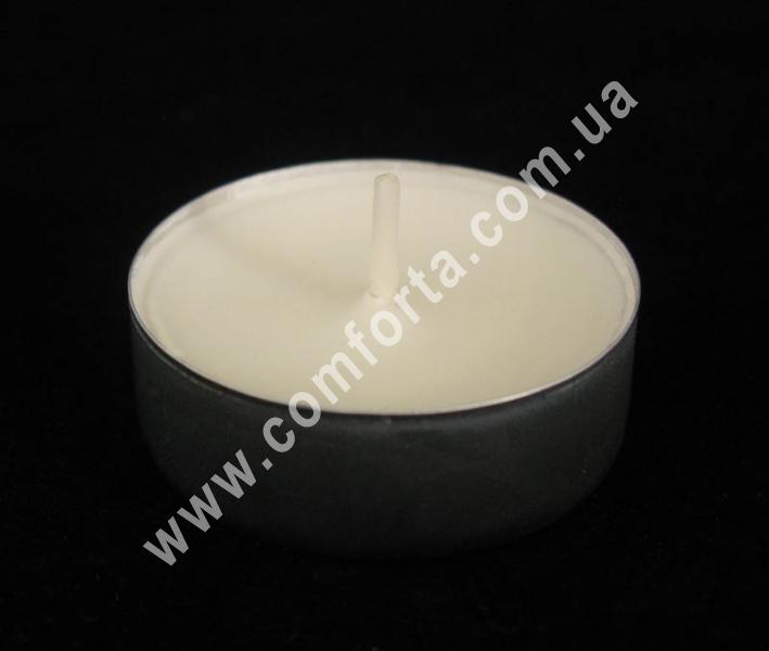 свеча чайная, высота - 1,6 см, диаметр - 4 см