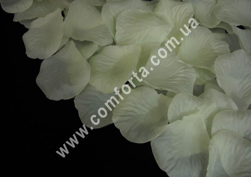 лепестки роз прессованные кремовые (~ 130 шт, 14 г), декор искусственный