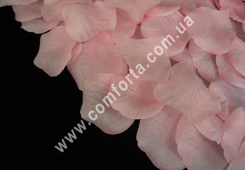 лепестки роз прессованные розовые (~ 130 шт, 14 г), декор свадебный