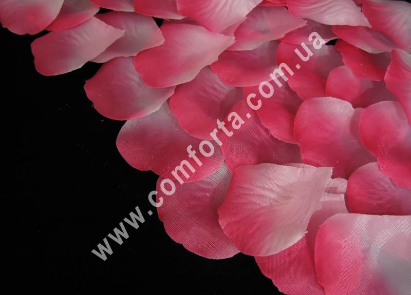лепестки роз прессованные розово-малиновые (~ 130 шт, 14 г), декор искусственный