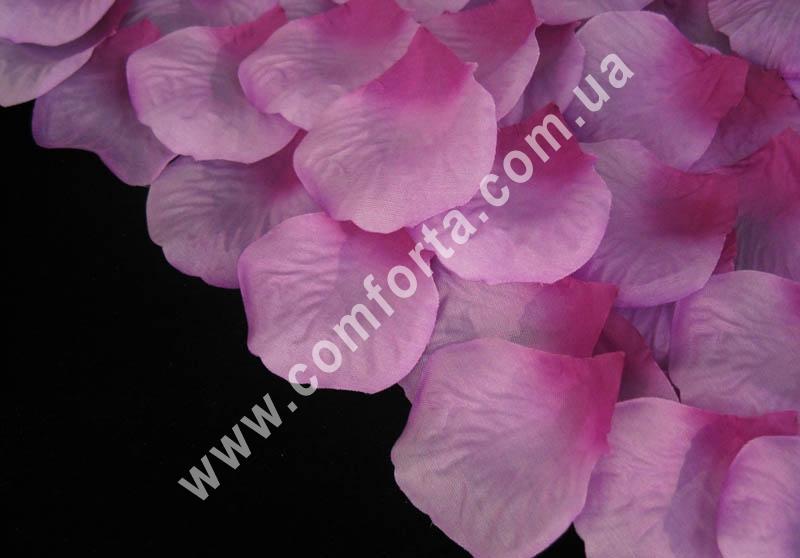 лепестки роз прессованные сиренево-розовые (~ 130 шт, 14 г), декор искусственный
