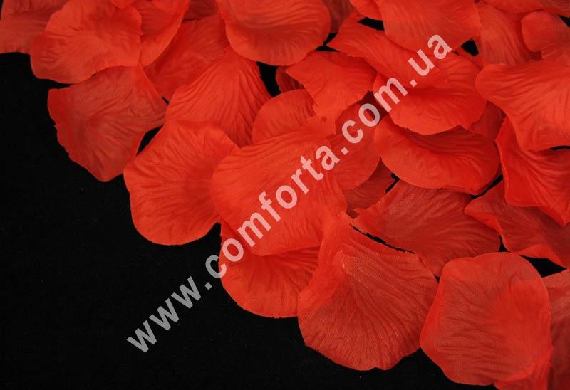 лепестки роз прессованные красные (~ 130 шт, 14 г), декор искусственный