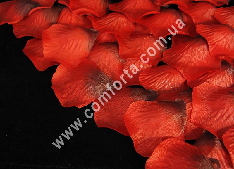 лепестки роз прессованные темно-красные (~ 130 шт, 14 г), декор искусственный
