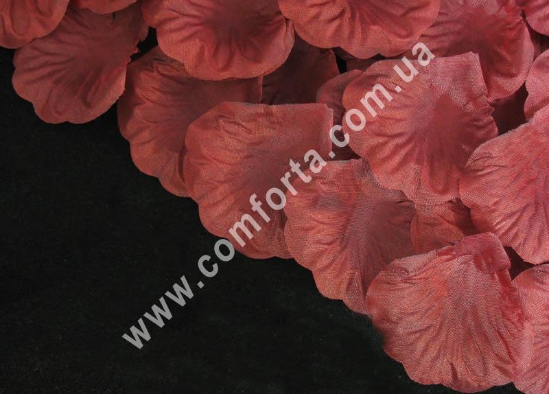 лепестки роз прессованные марсала (~ 130 шт, 14 г), декор искусственный