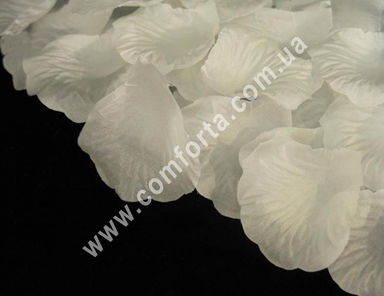 лепестки роз прессованные белые (~ 130 шт, 14 г), декор искусственный