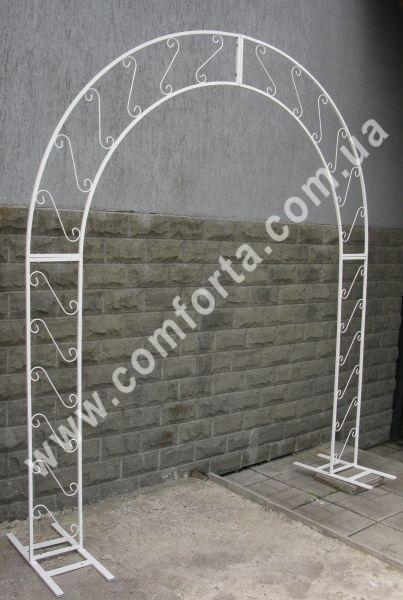 арка свадебная плоская разборная, высота - 2,4 м, ширина - 1,65 м, каркас металлический