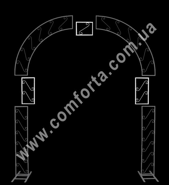 металлические вставки для увеличения арки