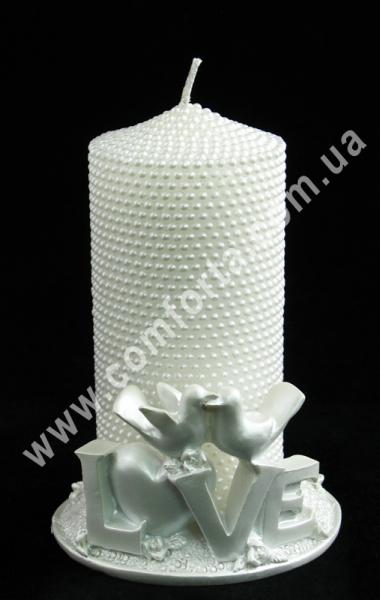 подсвечник, свеча свадебная