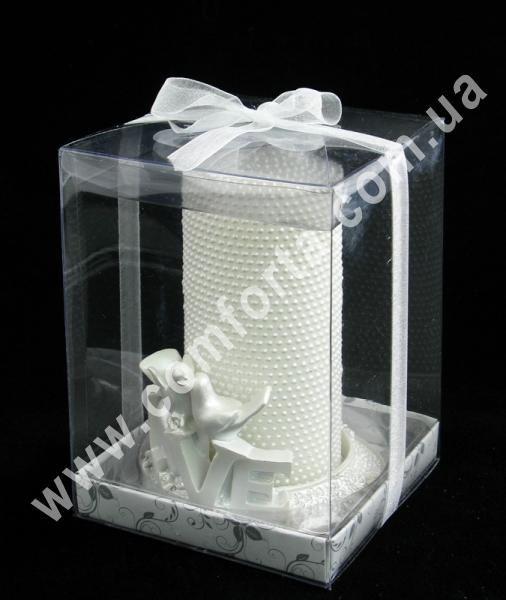 свадебные свечи в подарочной упаковке