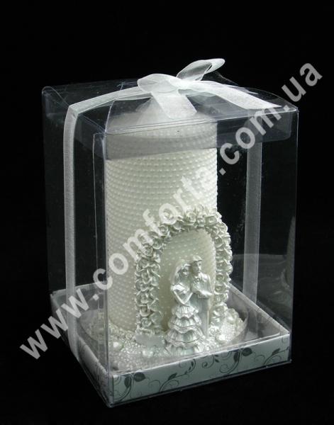 свадебная свеча на подсвечнике