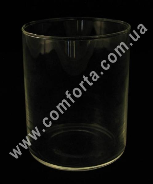 стеклянный цилиндр, высота - 11,5 см, диаметр - 9 см