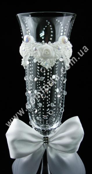 свадебные бокалы - дождик счастья