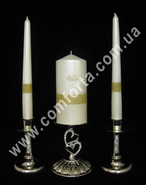 свадебные свечи серии Элегант блеск, золото