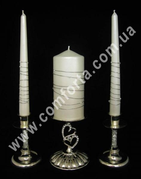 свадебные свечи серии Элегант жемчуг на нити