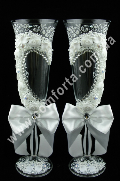 свадебные бокалы лепка