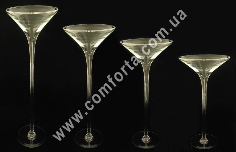стеклянная ваза мартинка, размеры, см (h/d) - 60/25, 60/17, 50/17, 40/17, 30/17 см