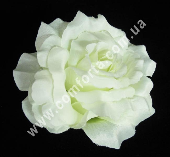 искусственная головка розы, диаметр - 13 см, цвет - шампань