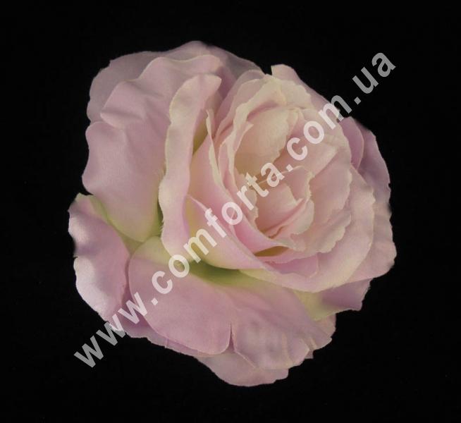искусственная головка розы, диаметр - 13 см, цвет - нежно-сиреневая
