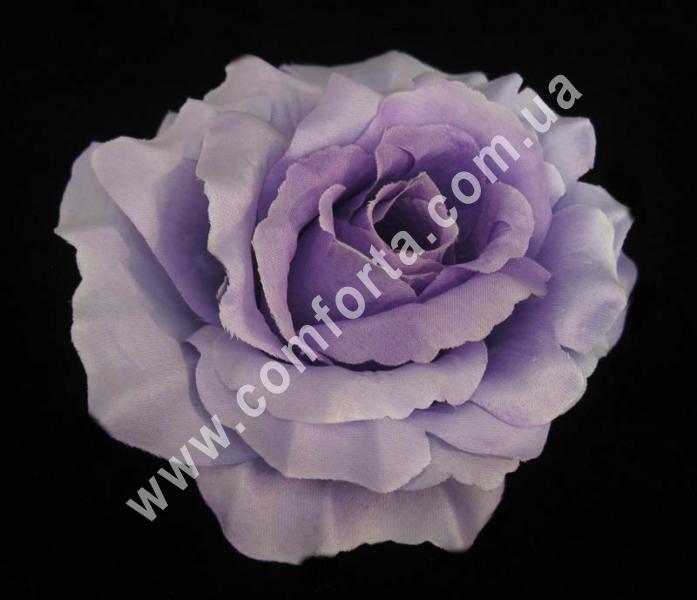 головка розы сиреневая, диаметр - 13 см, высота - 8 см, материал - ткань